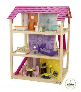 Maison de poupées rose 10 pièces - KidKraft 65078