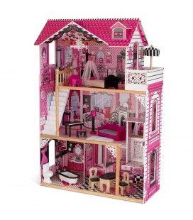 Maison de poupées avec ascenseur et balcon