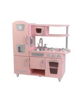 Cuisine enfant en bois vintage rose - KidKraft 53179