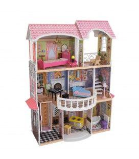 Maison de poupée rose et blanche - KidKraft 65839
