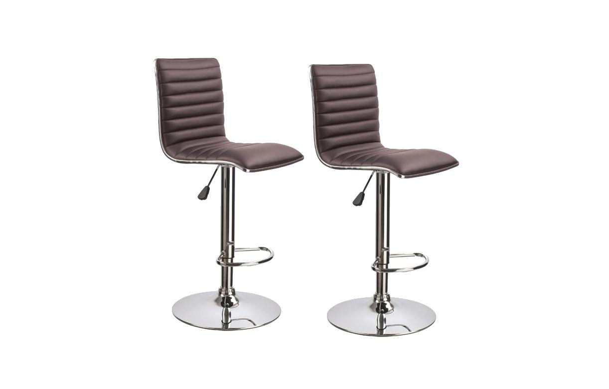 tabouret de bar en simili cuir r glable set de 2. Black Bedroom Furniture Sets. Home Design Ideas
