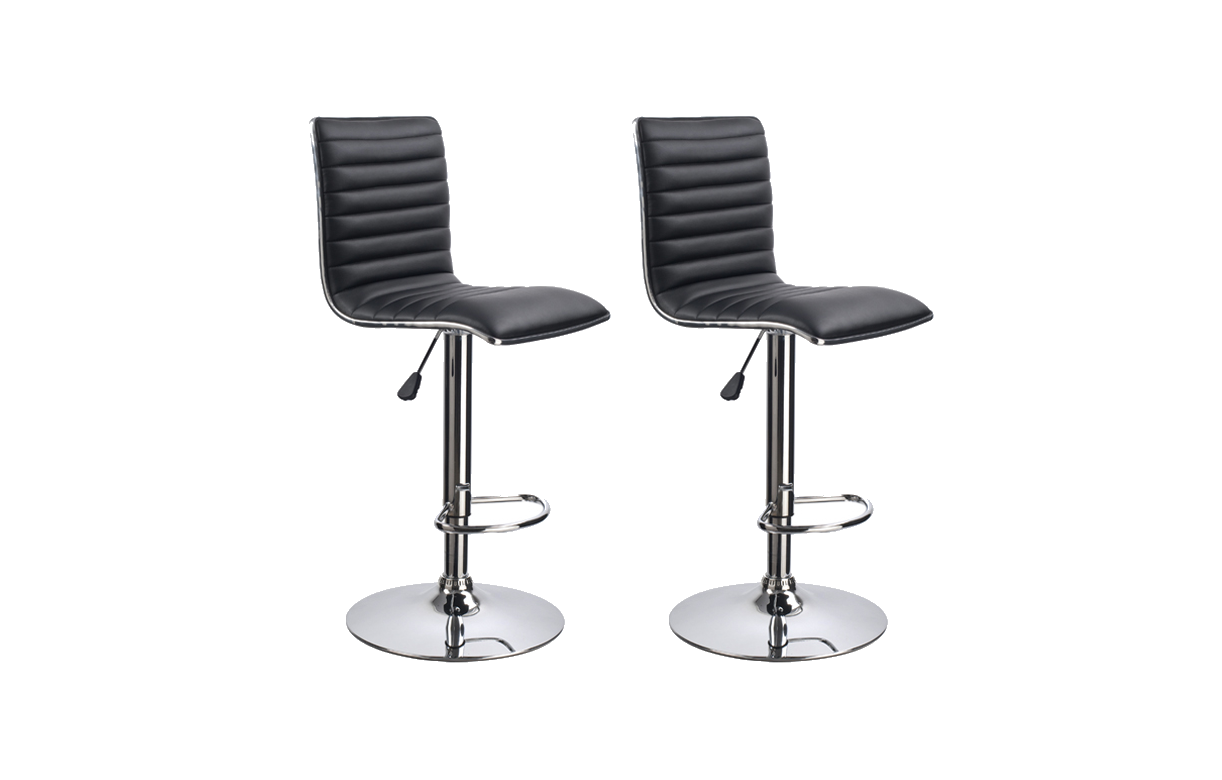 tabouret de bar en simili cuir r glable set de 2. Black Bedroom Furniture Sets. Home Design Ideas