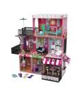Maison de poupées immeuble américain et café