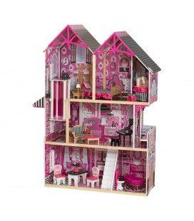 Maison de poupées rose et noir, 5 pièces