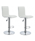 Tabouret de bar en simili cuir SLIMYO 9 Coloris - Set de 2 -