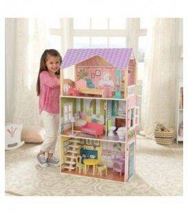Maison de poupées 3 étages bois et violet - KidKraft 65959
