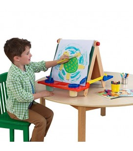 62047 Tabletop Easel - Natural with Primary Colors