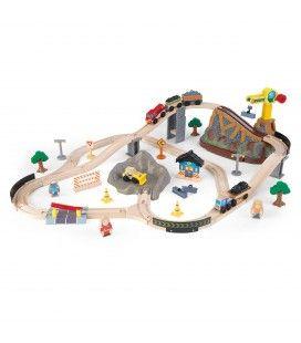 Circuit de train à construire pour enfant
