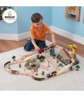Circuit de train à construire pour enfant - KidKraft 17805