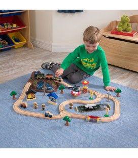 Circuit de train pour enfants 3 ans cascade et montage