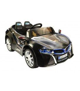 Mini voiture de sport noire pour enfant, 12 V