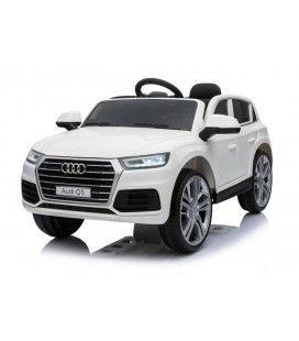 SUV Audi Q5 électrique blanc, 12 V et 6km/h