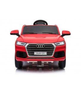 SUV Audi Q5 électrique rouge, 12 V et 6km/h