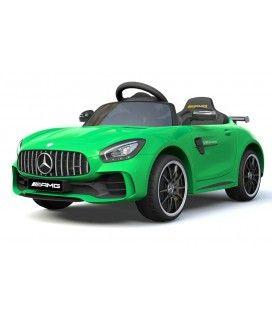 Voiture électrique pour enfant Mercedes AMG GTR verte, 12V