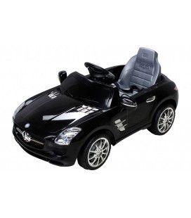 Mercedes SLS électrique noir - 5 km h