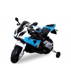 Petite moto électrique bleue pour enfant - 5km h