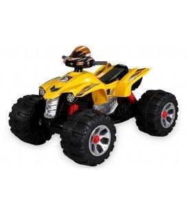 Petit quad électrique jaune pour enfant