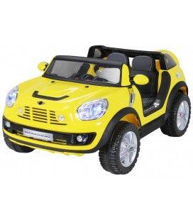 SUV Mini Cooper électrique jaune - 12V