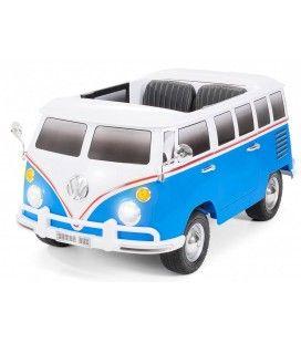 Van VolksWagen électrique bleu pour enfant- 12V