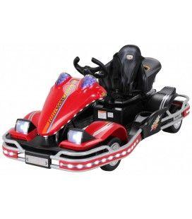 Kart électrique rouge pour enfant - 6 km h