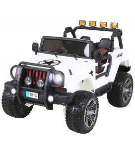 4x4 électrique Jeep blanc pour enfant - 6km h