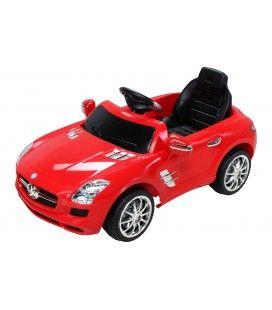 Mercedes SLS électrique rouge pour enfant