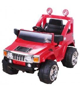 4x4 Hummer électrique rouge pour enfant