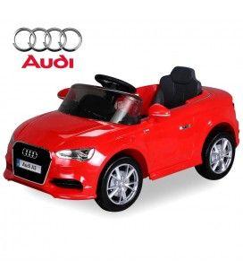 Petite Audi A3 électrique rouge pour enfant