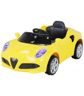 Petite Alfa Romeo 4C électrique jaune - 6 km h
