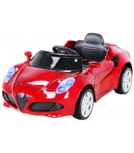 Petite Alfa Romeo 4C électrique rouge - 6 km h