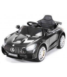 Petite voiture électrique Mercedes AMG GTR noire