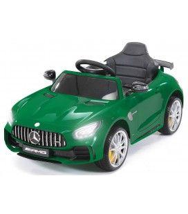 Petite voiture électrique Mercedes AMG GTR verte