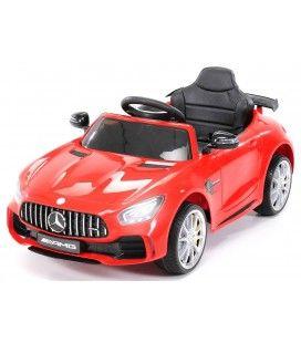 Petite voiture électrique Mercedes AMG GTR rouge