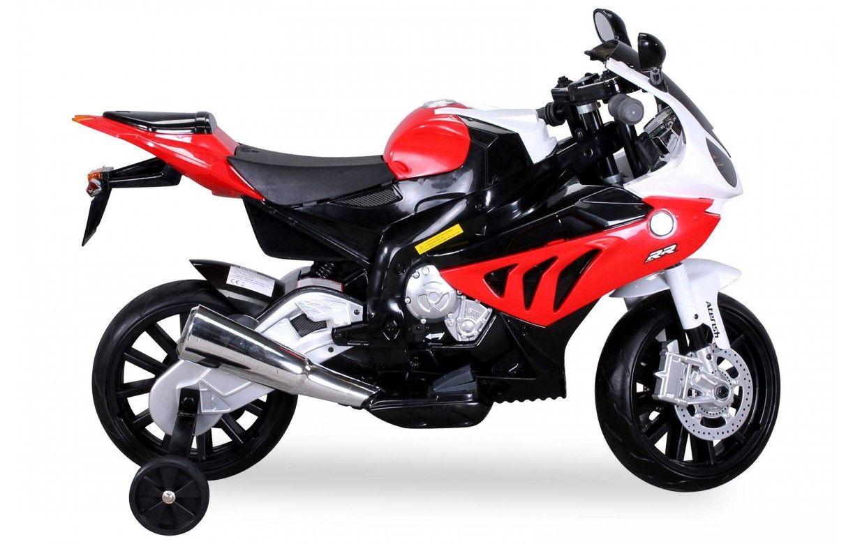 petite moto lectrique rouge pour enfant decome store
