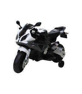 Petite moto électrique noire pour enfant - 5km h