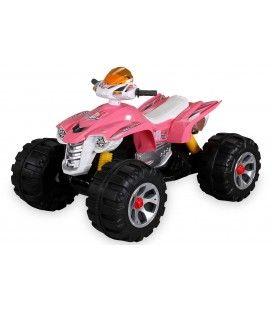Mini quad électrique rose pour enfant - 5 km h