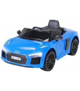 Petite Audi R8 décapotable électrique bleue - 70W