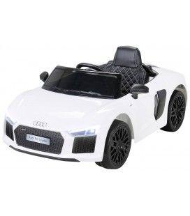 Petite Audi R8 décapotable électrique blanche - 70W