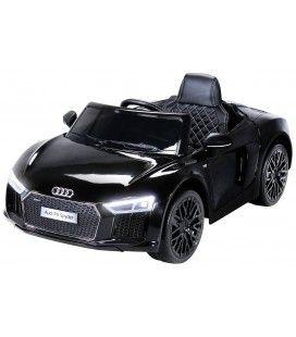 Petite Audi R8 décapotable électrique noire - 70W