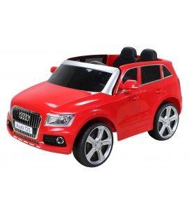 Mini SUV Audi Q7 rouge électrique 6 km h