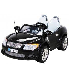 Mini Voiture noire 2 places pour enfant - 6 km h