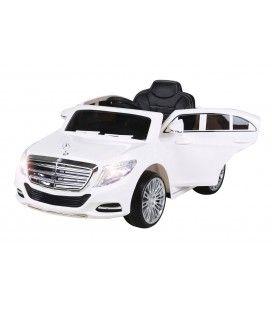 Mercedes Classe S600 blanc pour enfant - 6km h