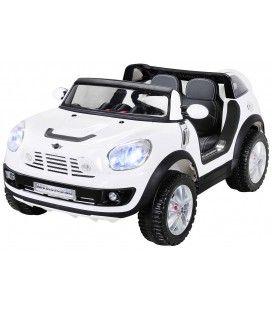 SUV Mini Cooper électrique blanc - 12V
