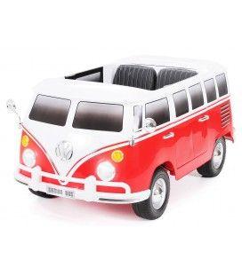 Mini van VolksWagen combi électrique rouge enfant