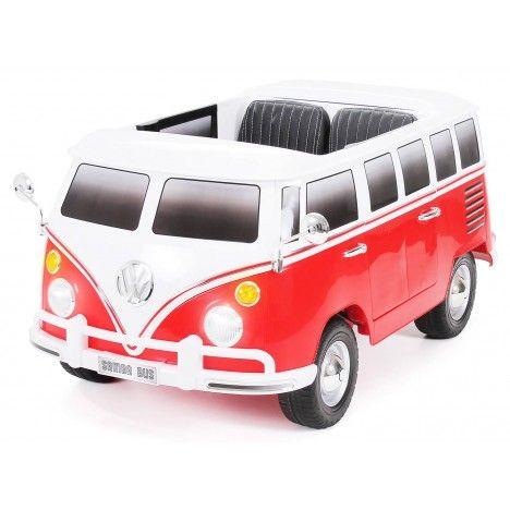 Van VolksWagen électrique rouge pour enfant- 12V