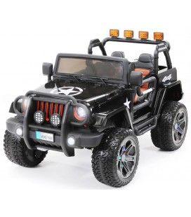 4x4 électrique Jeep noir pour enfant - 6km h