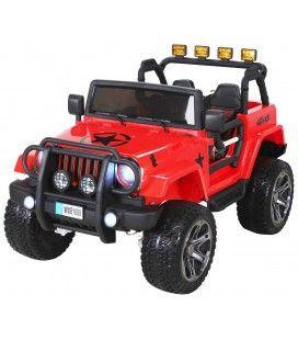 4x4 électrique Jeep rouge pour enfant - 6km h