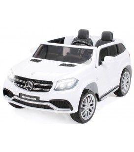 SUV Mercedes blanc GLS AMG pour enfant - 12V