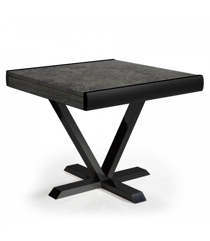 Table Extensible Effet Beton Rallonge Integree 90 A 180cm