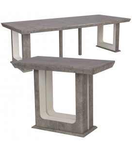Table Console extensible Effet Marbre 250cm Hully -